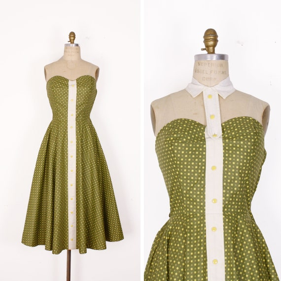 1950s sun dress | size extra small