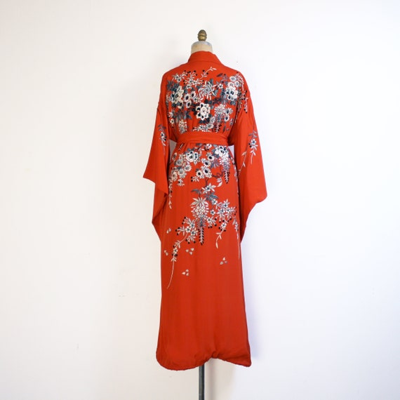 early 20th century crepe silk embroidered kimono … - image 6
