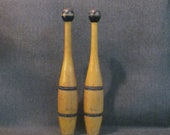 Pair of Indian Exercise Clubs 1 2 Pound Each