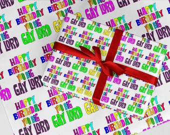 Pack of 3 Sheets Funny Gift Wrap Birthday F*ck Christmas Anniversary Christmas Rude Wrapping Paper 06