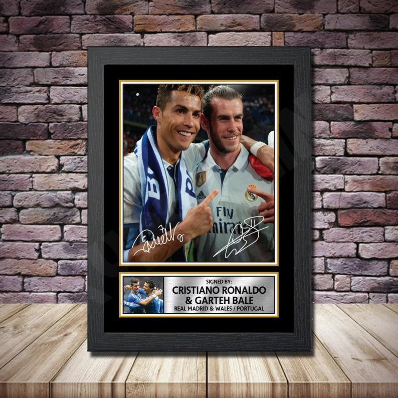 CRISTIANO RONALDO /& GARETH BALE POSTER Real Madrid Photo Print Poster A3 A4