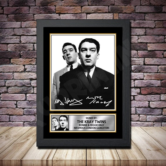 The Kray Twins Ronnie And Reggie British Gangsters Poster Canvas Pictures