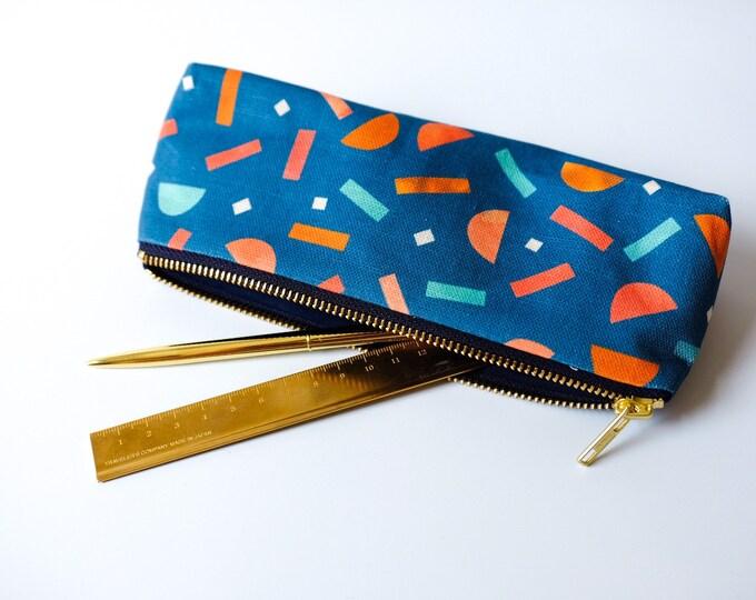 Fiesta Pencil Case / Make-up Bag - Blue.