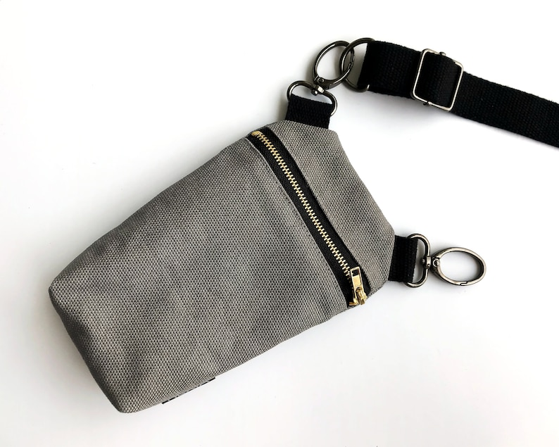 convertible to belt loop bag or crossbody purse. Cell phone fanny pack 3in1