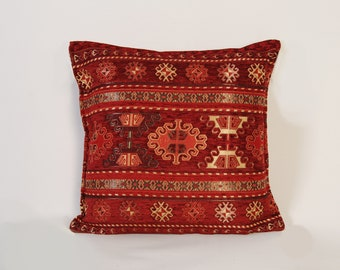 Kilim cushion Boho pillow 50\u00d750 Kilim pillow cover Turkish pillow Decorative pillow Kilim pillow Vintage pillow Home design