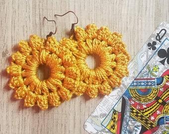 PDF-Sunburst Medallion Earrings