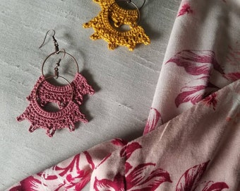 Rays of Hope - Crocheted Earrings