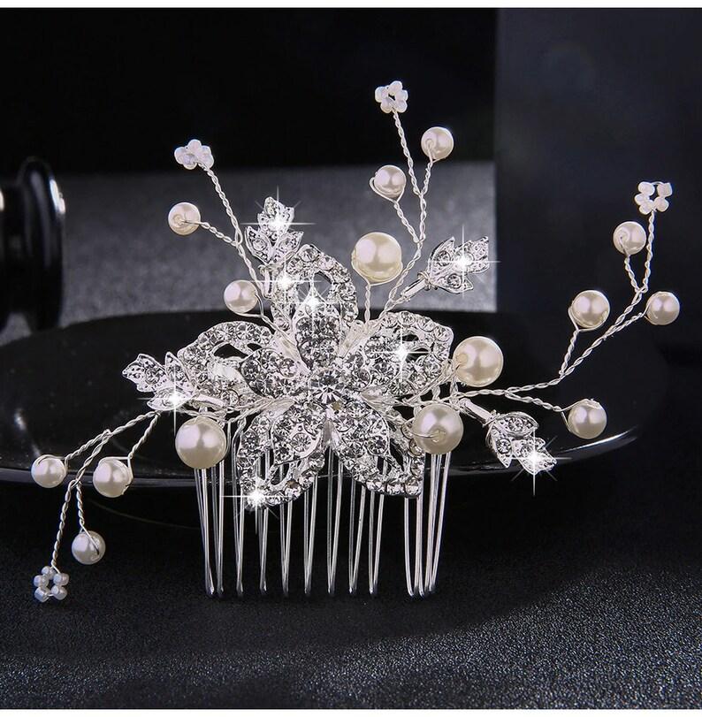 1c0ef5871737e Hair AccessoriesWedding Crystal Peals Hair Combs Bridal Hair | Etsy