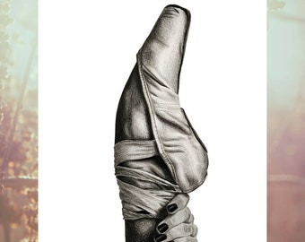 Art / Poster / Dance / Illustration / Black and White / A4 / Wall Decoration / Print / Printing