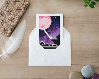 Postcard / Map / Illustration / Wall decoration / Print / Postcard / Card