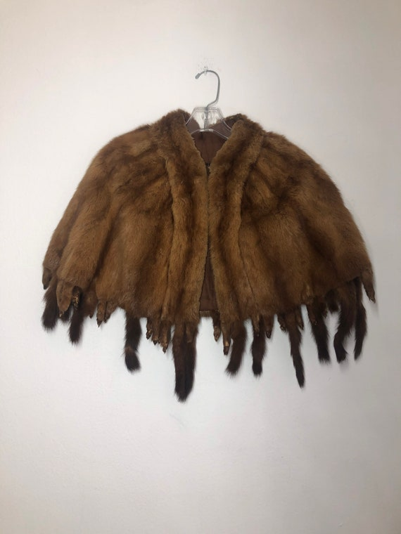 Bolero size S real fur bolero fox bolero with hook