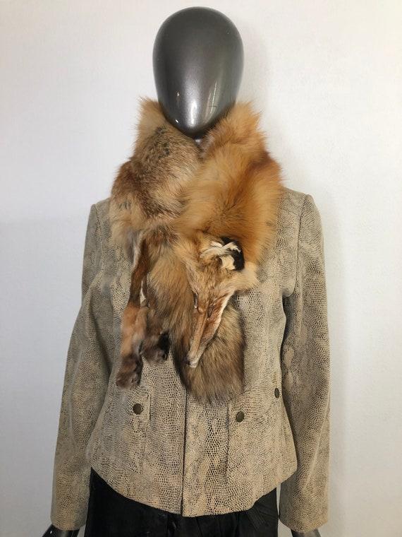 Orange Women's Collar from real fox fur fox pieces