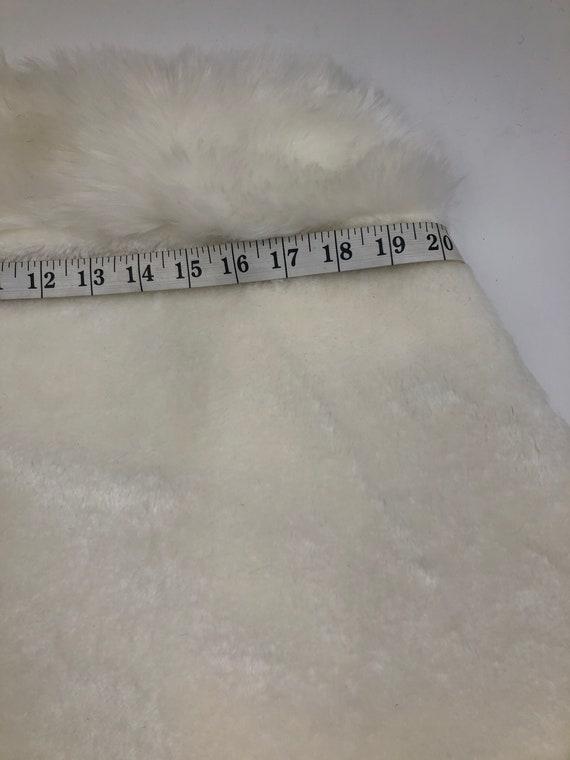 White women's bolero from faux fur festive look c… - image 6
