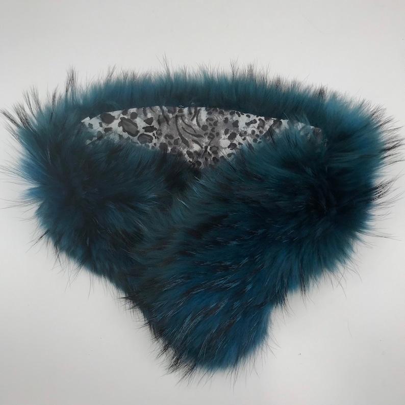Turquoise Women/'s Collar real polar fox fur festive look cinema style collar vintage collar theatre collar retro collar for party one size.