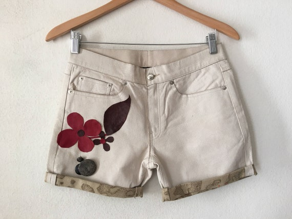 Real leather shorts short shorts made from leather