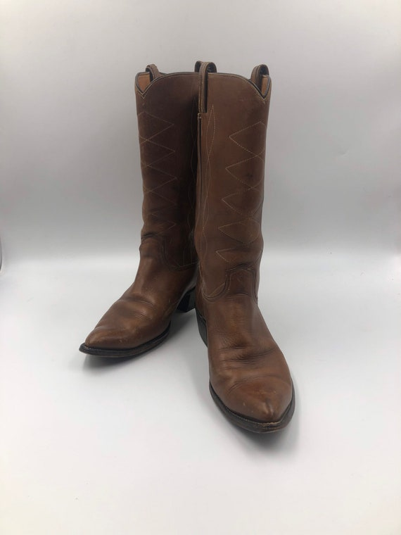 Brown boots, men's boots, real leather, vintage, e