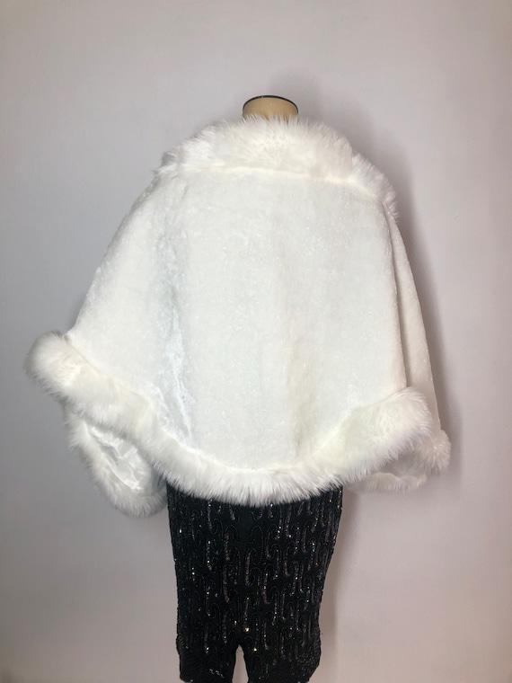 White women's bolero from faux fur festive look c… - image 3