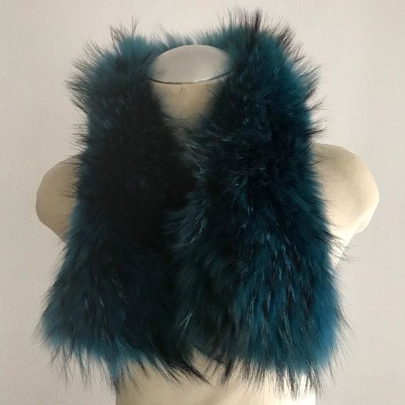 Turquoise Women's Collar real polar fox fur festiv