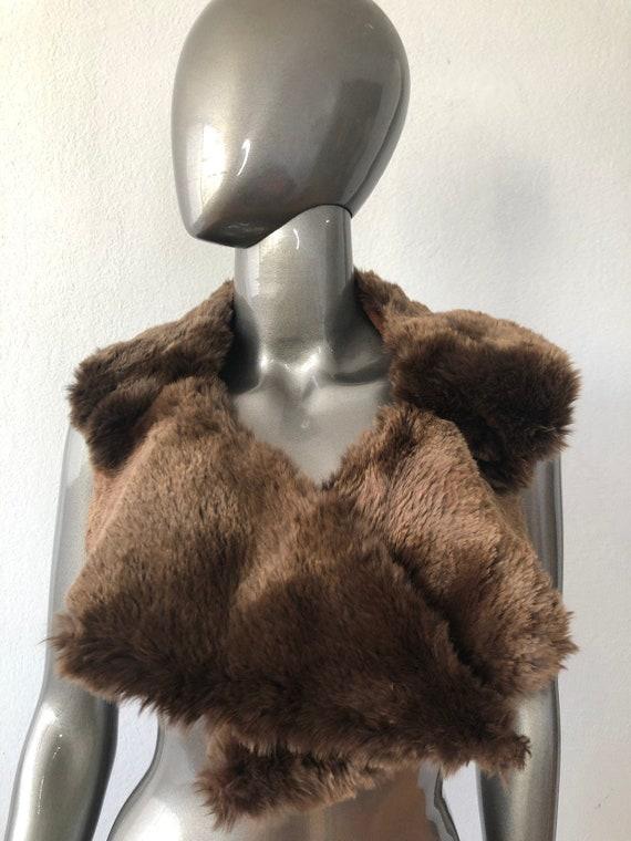 Brown women's collar real sheepskin fur festive lo