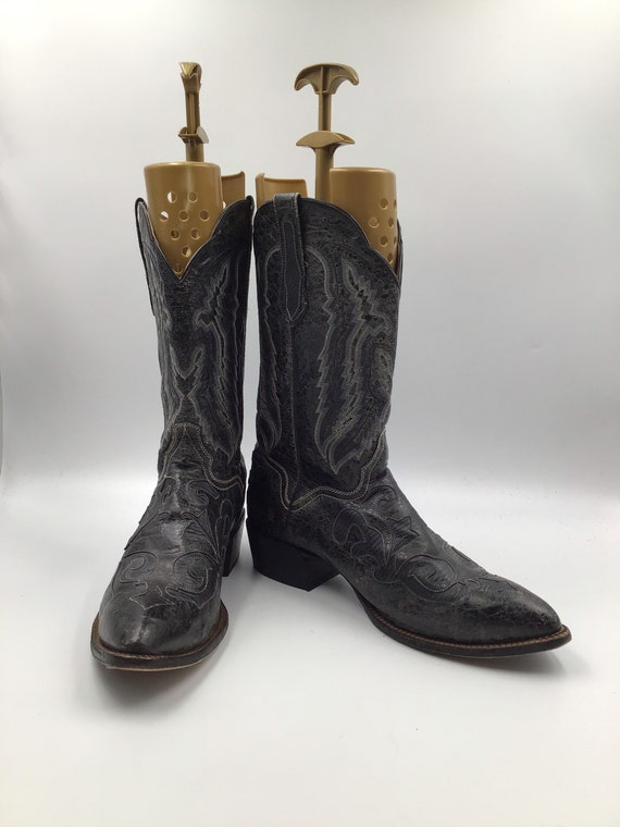Leather cowboy boots 15