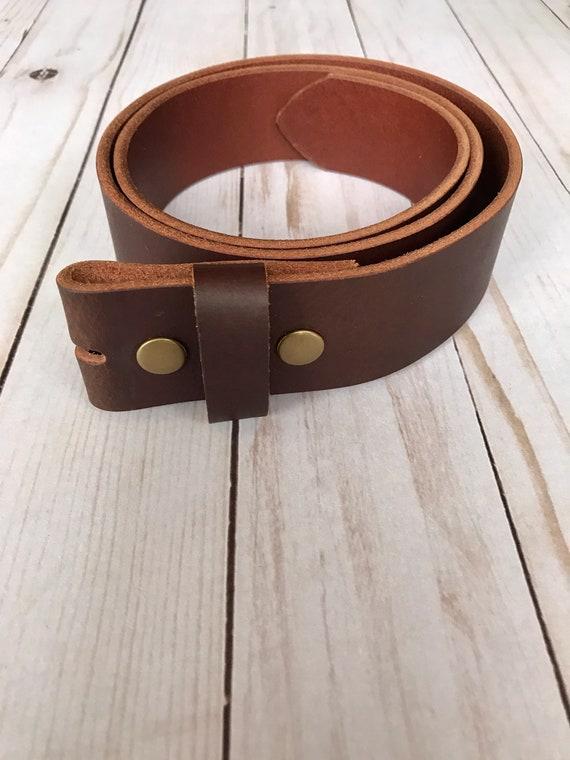 Women/'s Full Grain Buffalo Leather 1 inch Belt