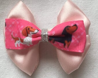 UK Seller Girls Handmade 4pk Baby//Toddler Glitter Hair Bow Clips Glitter Pink