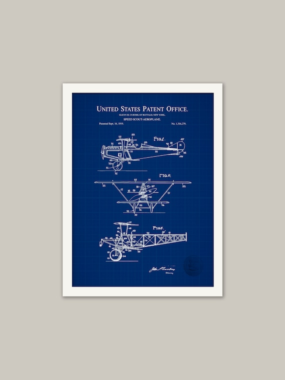 Details about  /Speed scout Aeroplane Airplane Patent Poster High Quality Prints