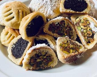 Mamool, Syrian cookies, vegan cookies option, Ramadan and Al Eid Gift holiday sweets ، Maamoul, معمول سوري