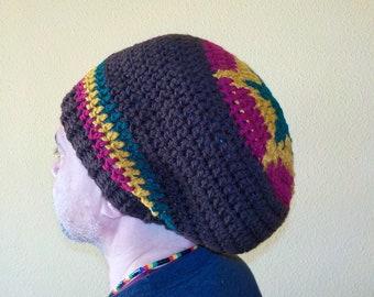 81868776ada RASTA STAR Tam Hat slouchy beanie headwear Gorro Dreadlocks Reggae Marley  Hippie Surfer stretch fit Unisex