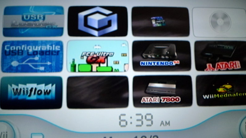 Modded Nintendo Wii With USB Flash Drive