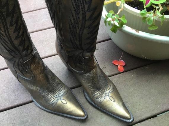 1990's Metallic Cowboy Boots