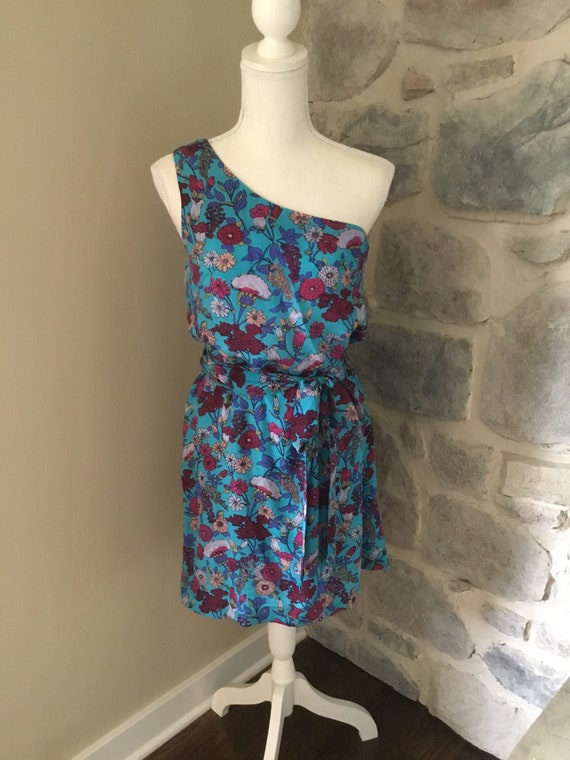Silk, One Shoulder Summer Dress
