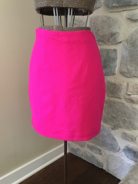 1980's Vintage Hot Pink Women's Skirt