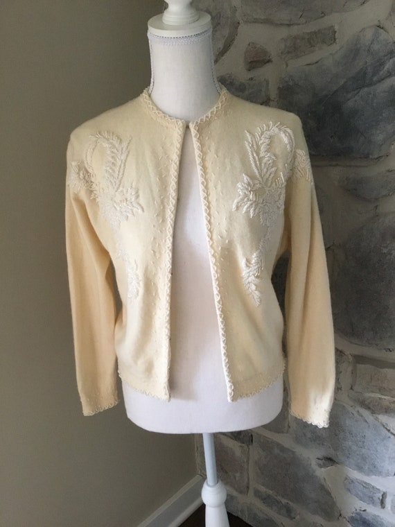 1950's Beautiful Beaded Cardigan