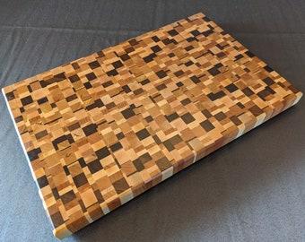 Handmade Wooden Chaos End Grain Butcher Block