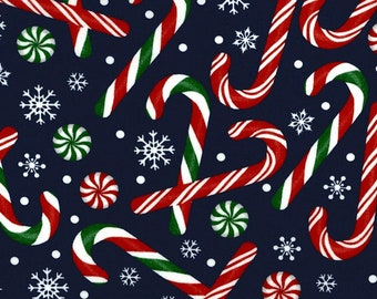 Candy Canes - Cotton Fabric