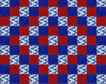 Rag Quilt Kit - Patriotic Stars III