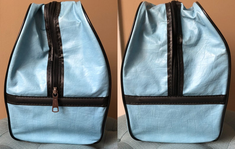 Vintage 70s Brunswick Blue Bowling Bag