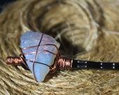 Opalite Crystal Hair Pin, raw crystal hair pin, crystal hair pin, raw stone hair pin, crystal bobby pin, boho bridal, wedding accessory