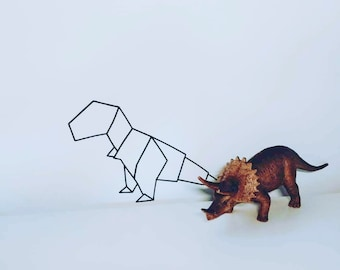Hip Wall decal Origami Dino