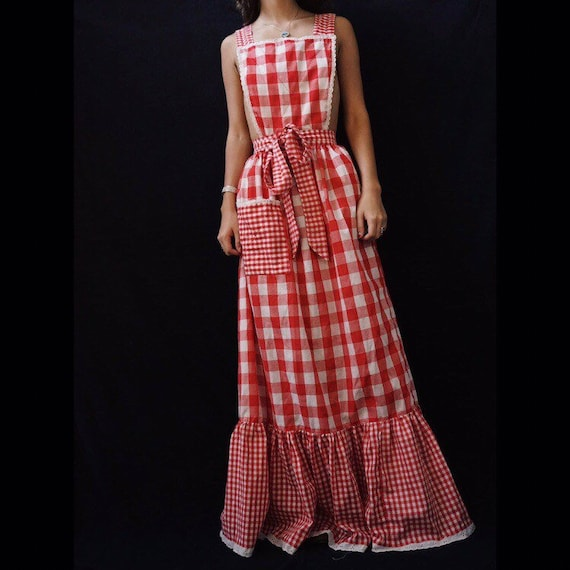 1970s Plaid Dress
