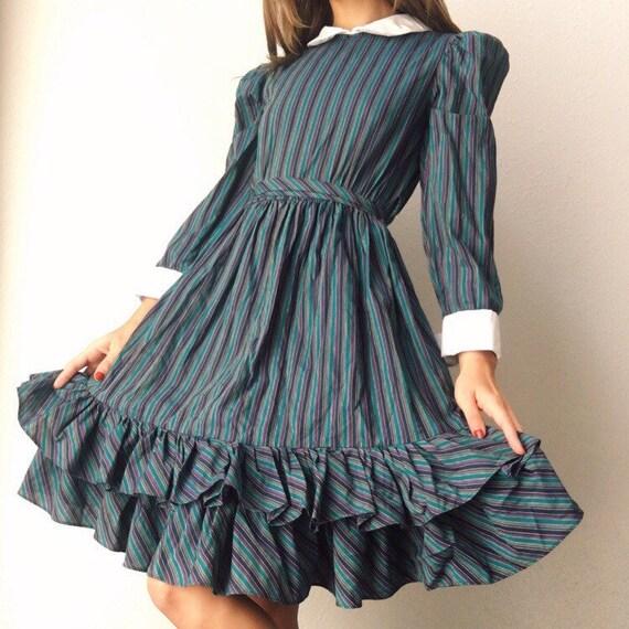 1960s Yves Saint Laurent Prairie Dress