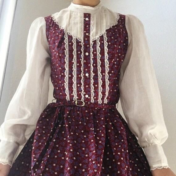 1970s Candi Jones Prairie Dress - image 2