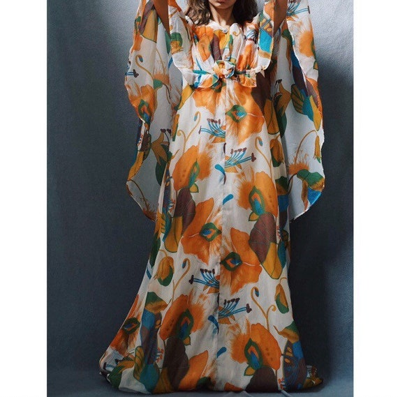 1970s Novelty Print Dress