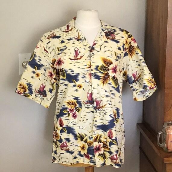 Large Hawaii all Cotton Hawaiian Aloha Shirt