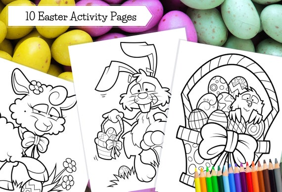 Printable Easter Coloring Pages / Crafts for Kids / Art for