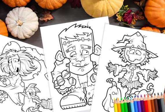 Printable Halloween Coloring Pages / Crafts for Kids / Art for