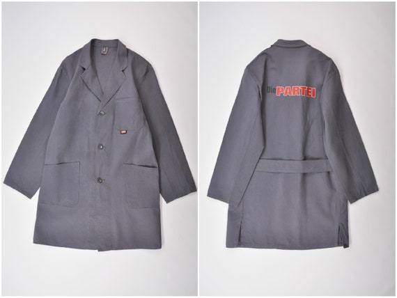 Vintage European Work Coat / Shop Coat / Duster Co