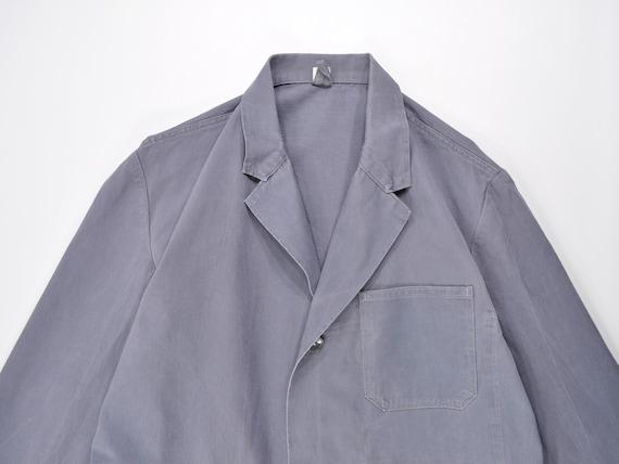 Vintage Work Coat, Gray Shop Coat, Duster Coat, Ar