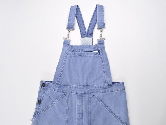 Vintage French Sun Faded Work Overall, HBT Bib Ove